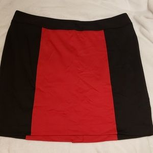 Red and Black pencil skirt